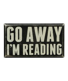 Love this 'I'm Reading' Wall Sign on #zulily! #zulilyfinds