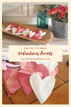 valentinesday crafts These easy DIY Valentines Day fabric hearts are so fun to make! No sewing machine required! Valentines Day Decorations, Valentine Day Crafts, Valentine Heart, Valentine Ideas, Diy Holiday Gifts, Diy Gifts, Cheap Gifts, Ravelry, Heart Diy