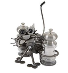 Kitty Cat - Salt and Pepper Holder Available at AllSculptures.com