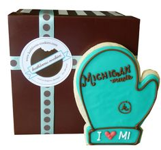 Signature Michigan Mitten Cookie! We're so proud to be a Made-in-Michigan company!