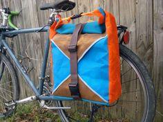 Teal + Orange Panniers | 15 Bike Baskets and Panniers