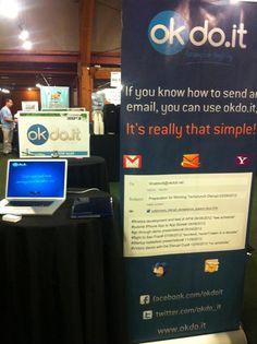 @okdo.it social booth at @TechCrunch #Disrupt SF 2012