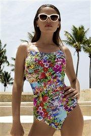 7c05d1aa05bc Dámske luxusné jednodielne plavky City s kosticami farebná
