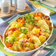 Potato and kohlrabi casserole with boiled ham, # stewed recipe German . - Potato and kohlrabi casserole with cooked ham, - Recipes With Cooked Ham, Ham Recipes, Potato Recipes, Seafood Recipes, Healthy Recipes, Free Recipes, Boiled Ham, Boiled Food, Grilled Tilapia Recipes