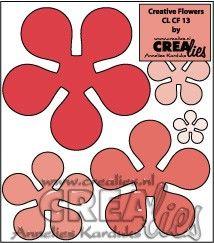 Crealies Creative Flowers no. 13 (stans - die - Stanzschablone - pochoir) http://www.crealies.nl