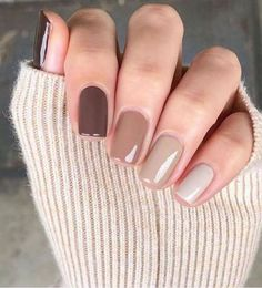 Neutral Nails, Nude Nails, Neutral Colors, Coffin Nails, Classy Nails, Stylish Nails, Trendy Nail Art, November Nails, Nagellack Design