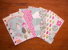 Pocket Size Divider set - Houses Heartrs Butterflies, Clouds Flowers #Filofax Quirky