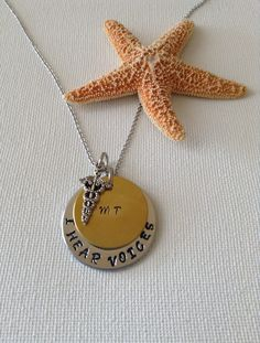 Medical transcriptionist necklace by SimplyDeborah on Etsy Christmas Presents, Holiday Gifts, Medical Transcriptionist, Thing 1, True Colors, Hand Stamped, The Voice, Gifts For Her, Etsy Shop