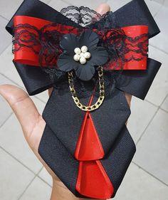 Diy Ribbon, Ribbon Crafts, Ribbon Bows, Ribbon Jewelry, Fabric Jewelry, Women Bow Tie, Steampunk Accessories, Barrettes, Fabric Bows