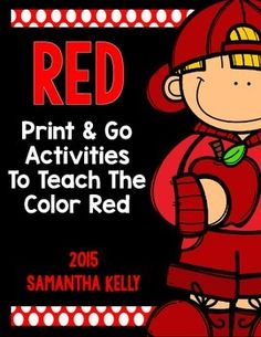 RedThe Color RedGet 11 Colors in One Place!Click HERE to check out the BUNDLE and save BIG!Teach your kiddos all about the color red with this printable pack!  Includes 7 engaging resources for teaching how to read, write, and recognize the color red.