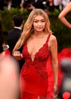 """Gigi Hadid attends the """"China: Through The Looking Glass"""" Costume Institute Benefit Gala at the Metropolitan Museum of Art on May 4, 2015 in New York City. (Photo by Andrew H. Walker/Getty Images for Variety)"""