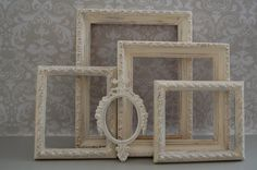 Shabby Chic Decor / Distressed Picture Frame by BlueMangoDesign