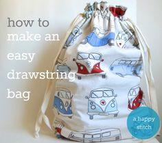make an easy drawstring bag
