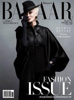 Carmen Dell'Orefice for Harper's Bazaar Thailand September 2014   Art8amby's Blog