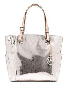 58ad94f65c504 MICHAEL Michael Kors Jet Set Signature Monogram Tote. Michael Kors Handbags  Outlet