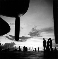 Pacific Theater, WWII, USS Saratoga, 1943-44, by Wayne Miller.