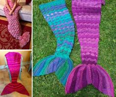 The Mediterranean Crochet: Mermaid Crochet Tail Blanket Free Patterns