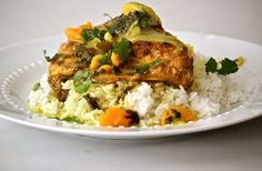 Moroccan Chicken with Apricots...serve with rice or couscous