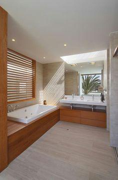 Love the wood tub surround
