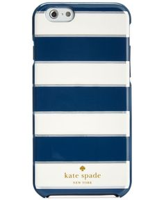 kate spade new york Metallic Edge Stripe Resin iPhone 6 Case