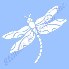 """4"""" Dragonfly Stencil Bug Stencils Template Templates Pattern Background"""