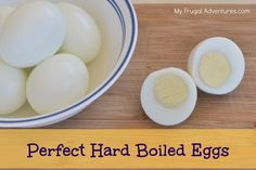 Easy tip to make perfect hard boiled eggs every time!