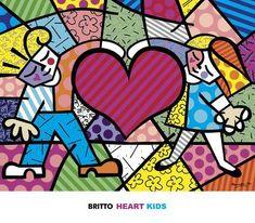 Art Print: Heart Kids by Romero Britto : Framed Artwork, Framed Art Prints, Doodle Paint, Elements And Principles, Heart For Kids, Kids Poster, Kids Prints, Find Art, Pop Art