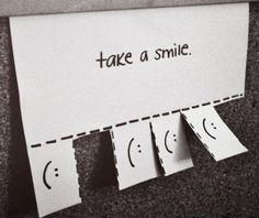 Cartaz de sorrisos.