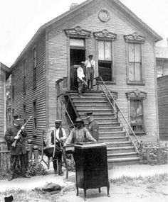 Blacks Evicted from Their Houses, Chicago, July 1919  ..........(July 1919. Red Summer).  - Red Summer refers to the race riots that occurred in more than three dozen cities in the United States during the summer and early autumn of 1919.