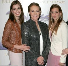 (L-R) Anne Hathaway, Julie Andrews and Princess Beatrice in 2004.  Bea and her mother Sarah, met these two Hollywood dames at the film premiere of the Princess Diaries.