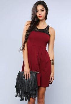 Rosy Laced Dress | Shop Night Out at Papaya