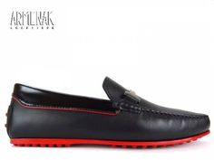 Collection Tod's: Red Ferrari en cuir noir