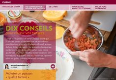 Tartares de saison - La Presse+ Ajouter, Sushi, Improve Yourself, Oatmeal, Clean Eating, Cooking, Breakfast, Health, Party