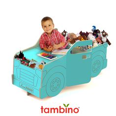 Pickup (Your Toys) Truck  combination desk and double toy chests. $349.00, via Etsy.
