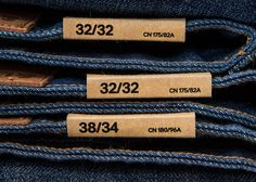 Tag Design, Label Design, Fashion Tag, Denim Fashion, Swing Tags, Denim Ideas, Denim Branding, Denim Jeans Men, Trousers