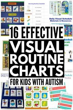 16 Visual Schedules for Kids with Autism! If you have a visual learner and you're looking for the perfect visual routine chart for kids with autism, we've found 16 ideas you'll love. Daily Routine Chart For Kids, Morning Routine Chart, Daily Schedule Kids, Schedule Board, Classroom Schedule, Charts For Kids, Daily Schedules, Morning Routines, Daily Routines