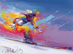 Skiing by Malcolm Farley