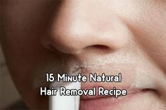15 Minute Natural Hair Removal Recipe