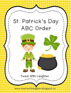 Teach With Laughter: St. Patrick's Day ABC Order Freebie