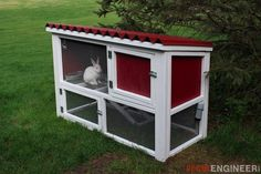 Free and easy DIY rabbit hutch plans by @rogue_engineer that will show you just how to build a rabbit hutch that will not only look great but will be functional too!