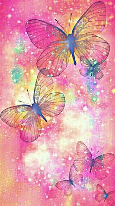 By Artist Unknown. Blue Butterfly Wallpaper, Flower Phone Wallpaper, Cellphone Wallpaper, Galaxy Wallpaper, Wallpaper Backgrounds, Iphone Wallpaper, Mobile Wallpaper, Beautiful Flowers Wallpapers, Pretty Wallpapers