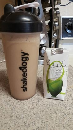 Café Latte blended with coconut water