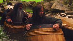 Kili and Bifur in a barrels! (gif)