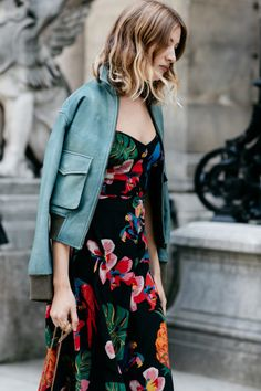 Dark Print & Turquoise Jacket.