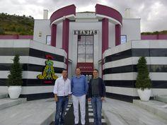 Argiris Stavros and Loukas Kranias. AVANTI FURS Brand owners outside of AVANTI Factory in Kastoria! www.avantifurs.com