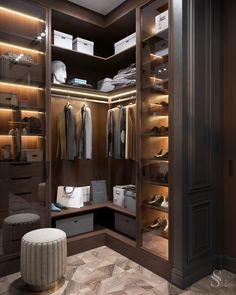 Feeling inspired to revamp your closet? We have a few splendid and imposing ideas! Wardrobe Room, Wardrobe Design Bedroom, Closet Bedroom, Shoe Closet, Dressing Room Closet, Dressing Room Design, Walk In Closet Design, Closet Designs, Modern Closet