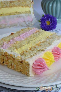 Vanilla Cake, Gem, Bacon, Desserts, Cakes, Food, Deserts, Acapulco, Syrup