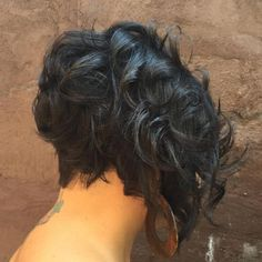 African American Curly Stacked Bob