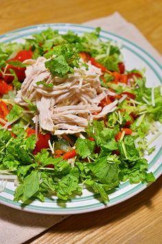 大発見!!身近な〇〇でむね肉しっとり!+サラダのレシピ