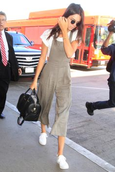 Kendall Jenner masters the culotte jumpsuit with white sneakers